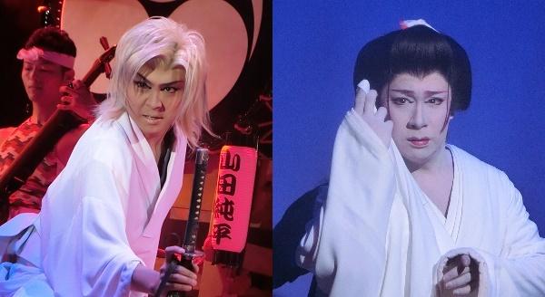(左)恋川純弥さん(2016/3/20) (右)桐龍座恋川劇団・恋川純座長(2015/4/11)