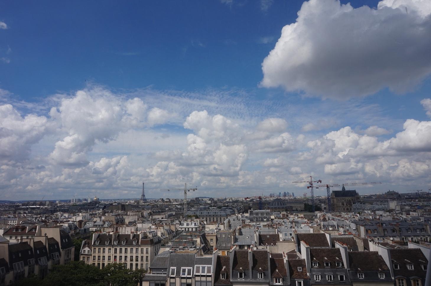 ポンピドゥー・センターからの眺め 撮影:Yoshiko