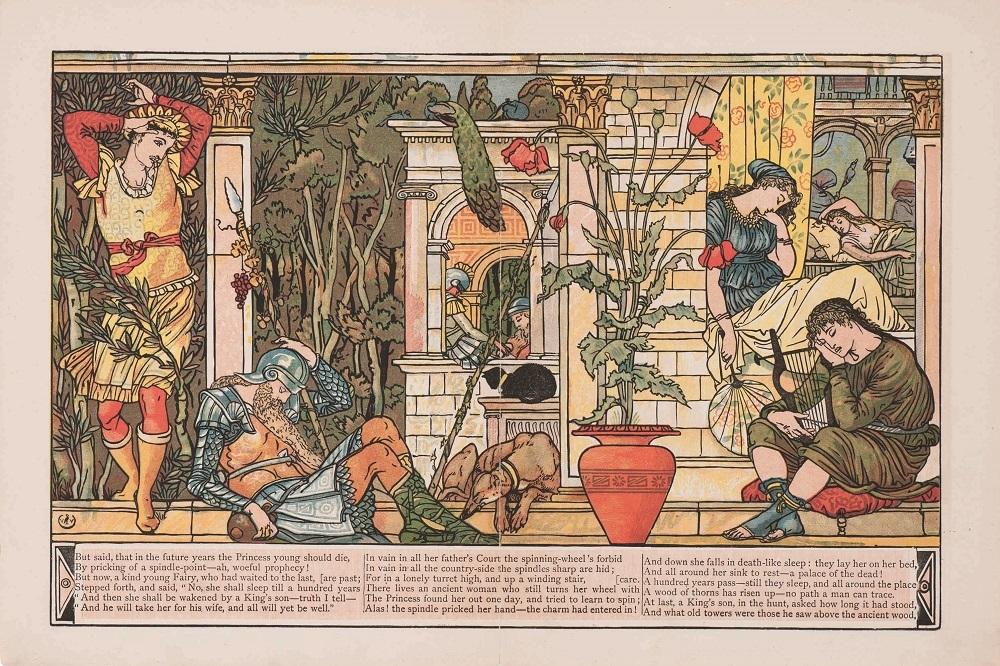 ウォルター・クレイン『眠り姫』1876年 個人蔵