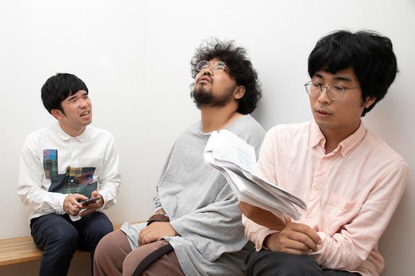 左から江原パジャマ(パブロ学級)、鈴木啓佑(コンプソンズ)、金子鈴幸(コンプソンズ)