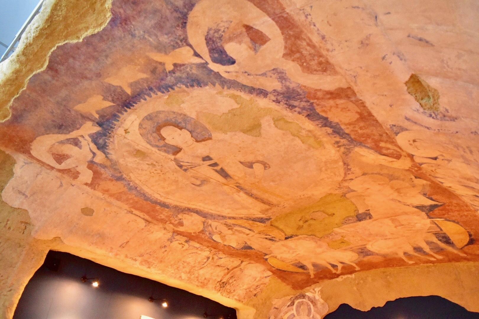 クローン文化財 バーミヤン東大仏天井壁画《天翔る太陽神》 6世紀