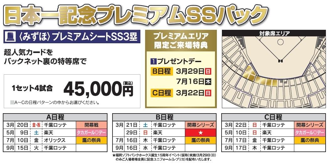 日本一記念プレミアムSSパックの詳細