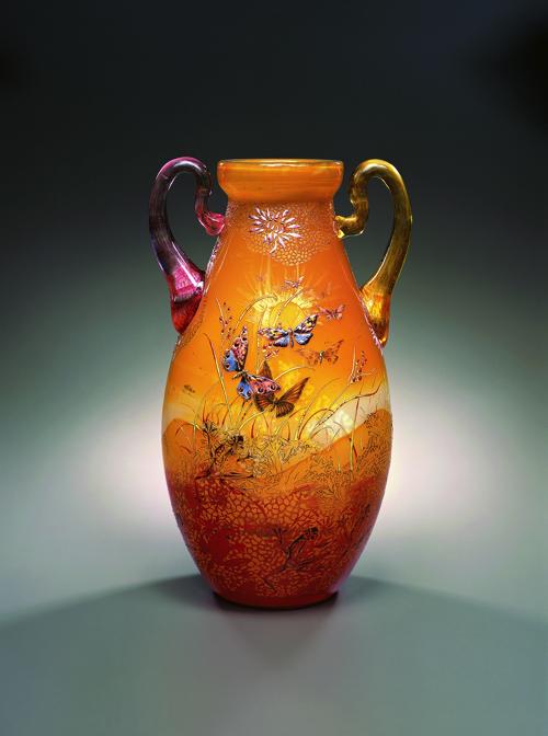 《草花文耳付花器》1895年頃 ポーラ美術館