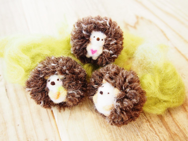 羊毛のハリネズミ