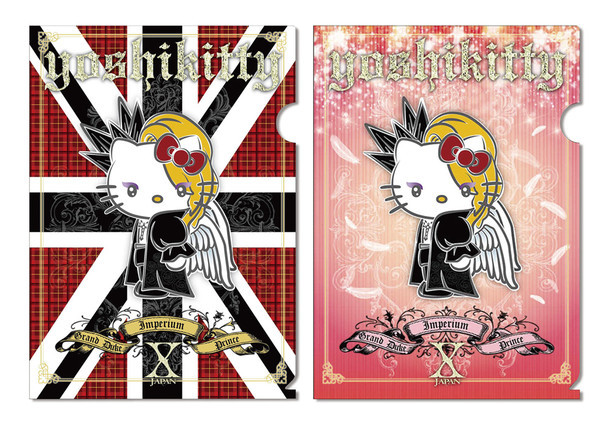 「yoshikitty」A4クリアファイル2枚セット