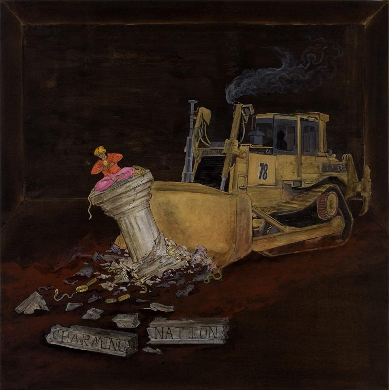 N・S・ハルシャ 《チャーミングな国家》(「チャーミングな国家」シリーズより) 2006年 アクリル、キャンバス 97 x 97 cm  所蔵:ルチラ・アガーワル、ムンバイ
