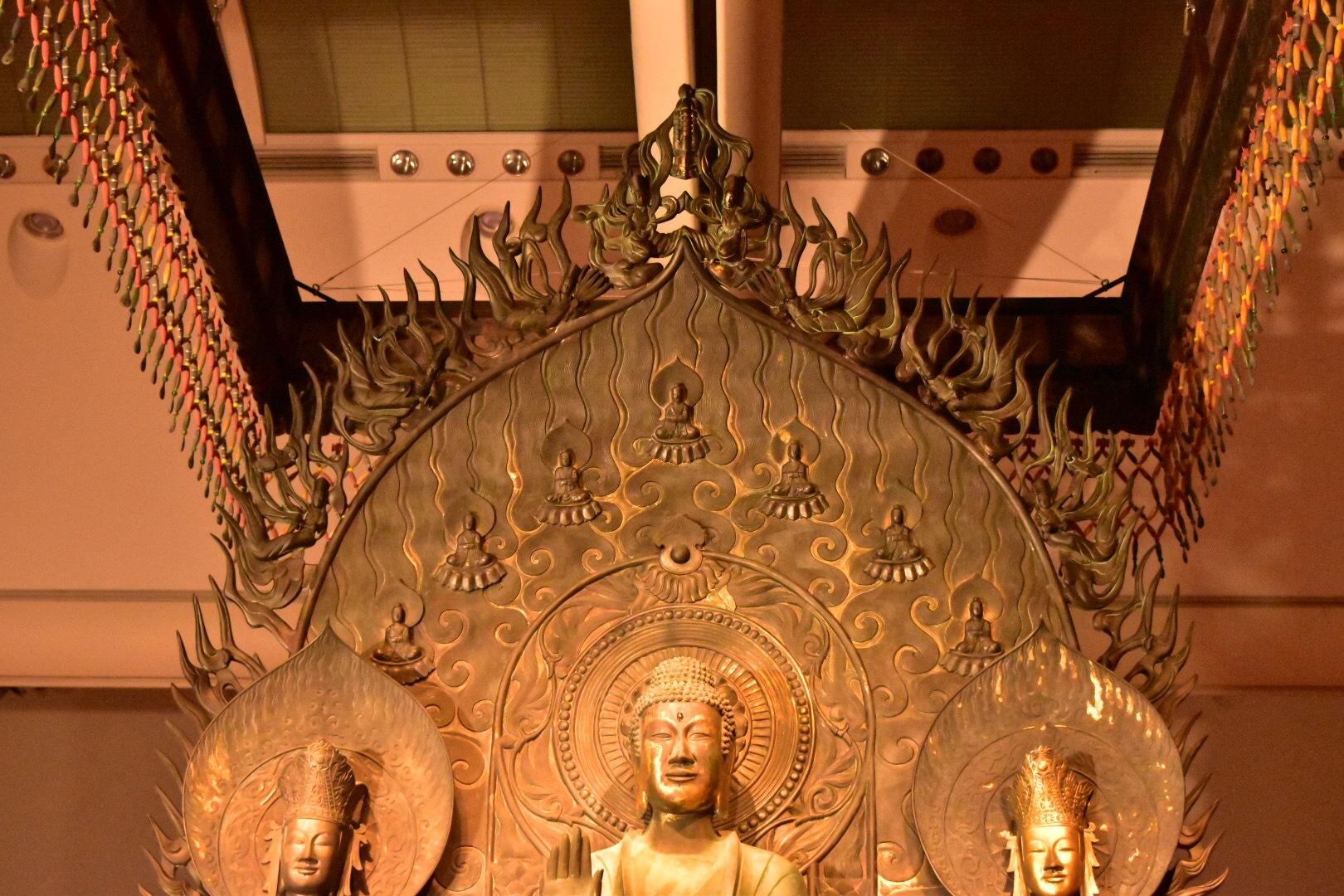 クローン文化財 法隆寺釈迦三尊像(部分) 623年