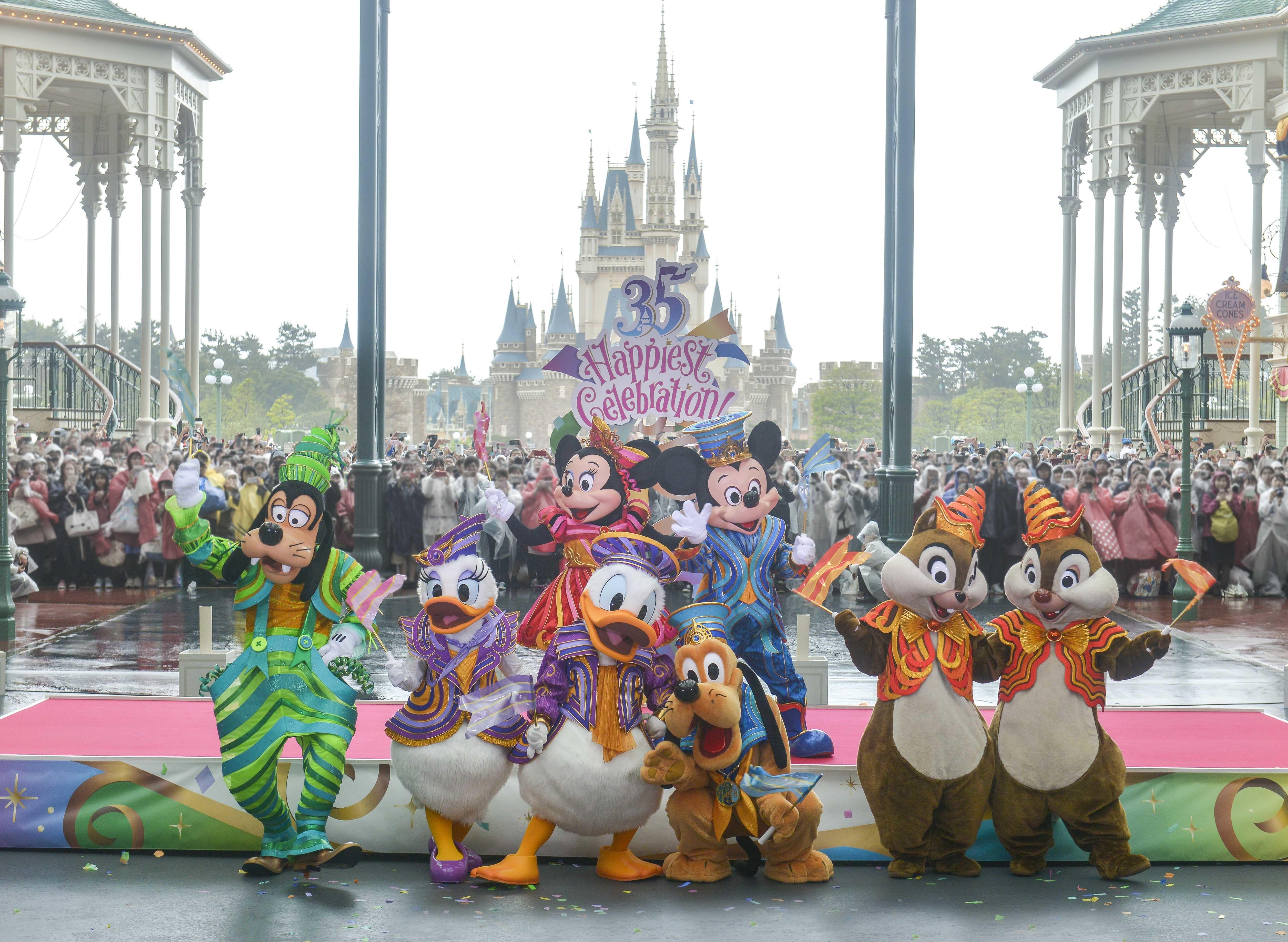 """東京ディズニーリゾート、35周年を祝う""""史上最大の祭典""""が開幕 ミッキー"""
