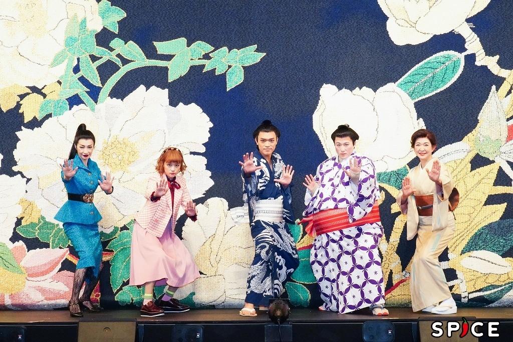 (左から)りょう、大原櫻子、原嘉孝、大鶴佐助、紺野美沙子 撮影=田中亜紀