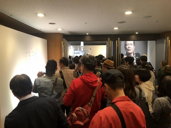 展示会『俺 矢沢永吉』大阪会場のようす