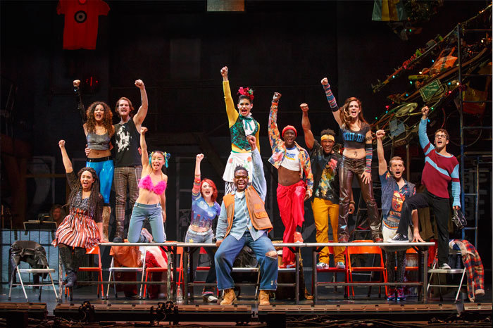 The Company of the RENT 20th Anniversary Tour RENT 20th Anniversary Tour, Credit Carol Rosegg, 2016.