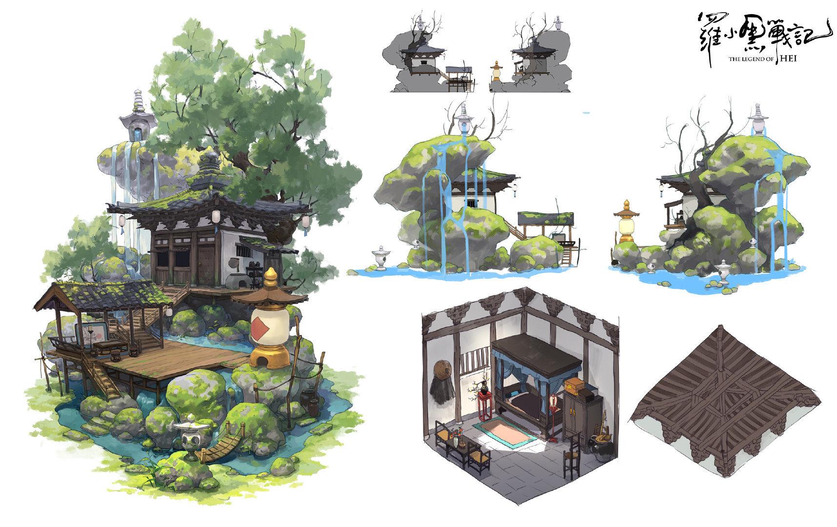 設定画〈ムゲン小屋〉 (C) Beijing HMCH Anime Co.,Ltd