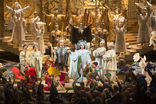 オペラ「トゥーランドット」 ©Marty Sohl/Metropolitan Opera