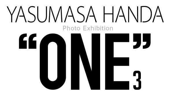 "「YASUMASA HANDA PHOTO EXHIBITION ""ONE3""」ロゴ"
