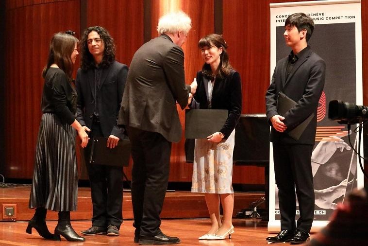 「ジュネーブ国際音楽コンクール」作曲部門 授賞式の様子
