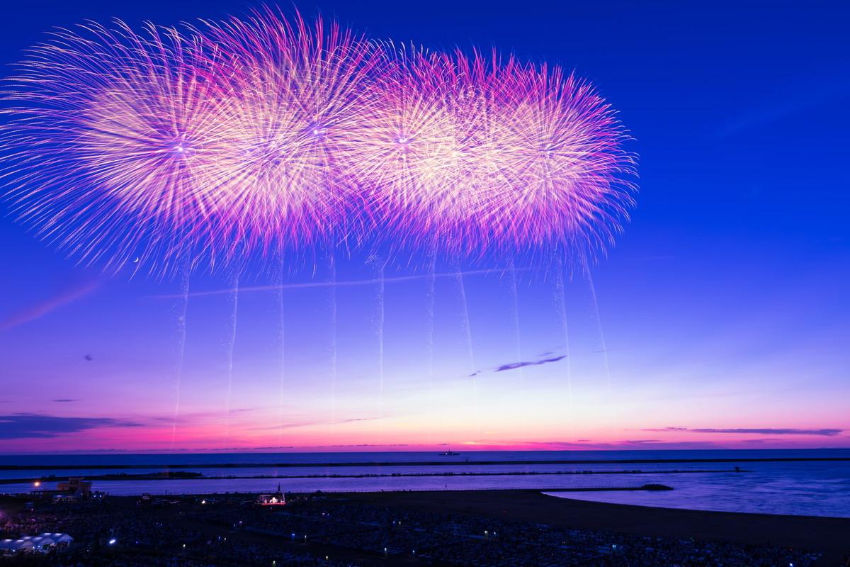 ぎおん柏崎まつり海の大花火大会 スターマイン