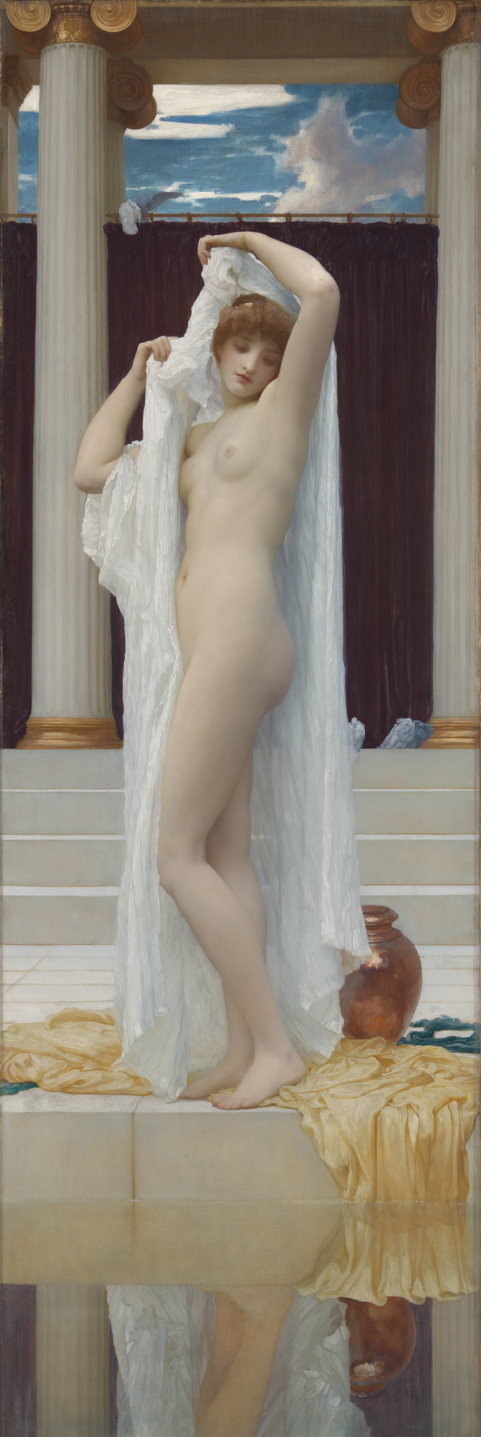 フレデリック・ロード・レイトン 《プシュケの水浴》 1890年発表 油彩/カンヴァス 189.2 × 62.2cm
