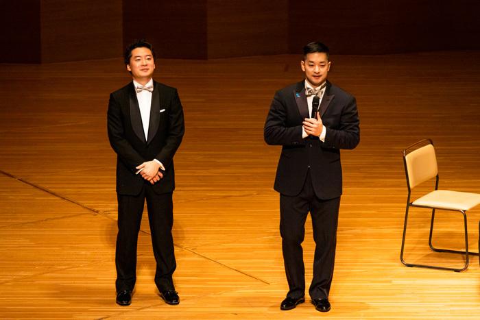 左から 鈴木隆太郎(ピアノ)、五嶋龍(ヴァイオリン)