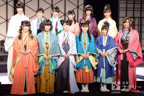 乃木坂46 3期生公演「見殺し姫」囲み取材の様子。