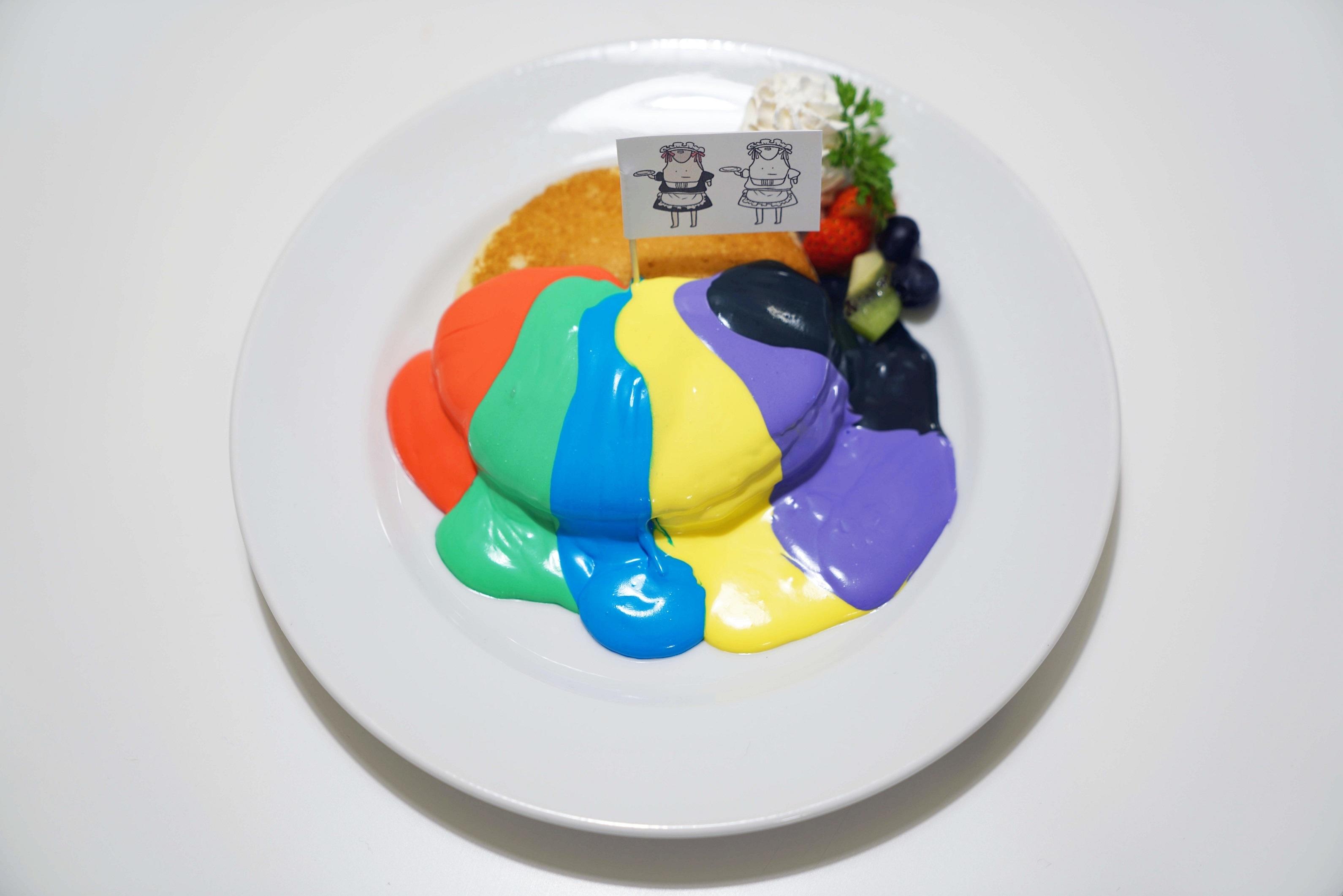 タンクトップくんレインボーパンケーキ
