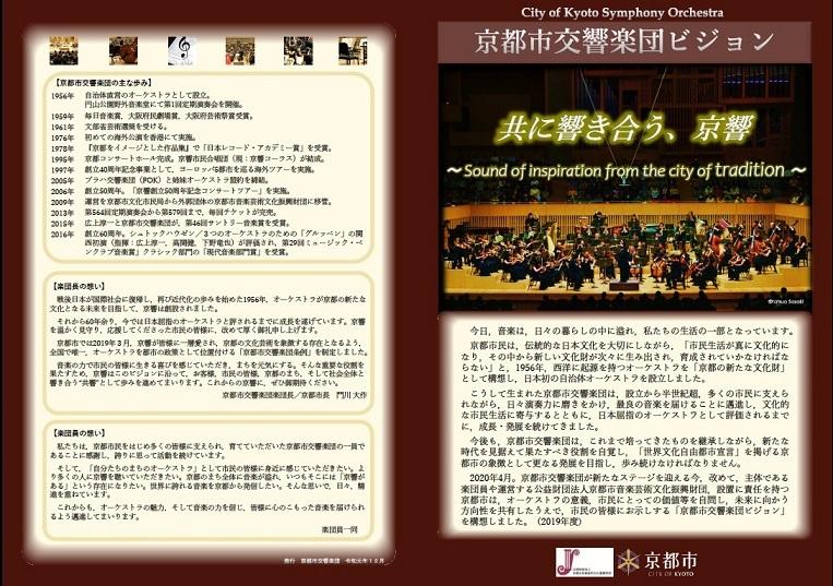 京都市交響楽団ビジョン 外面