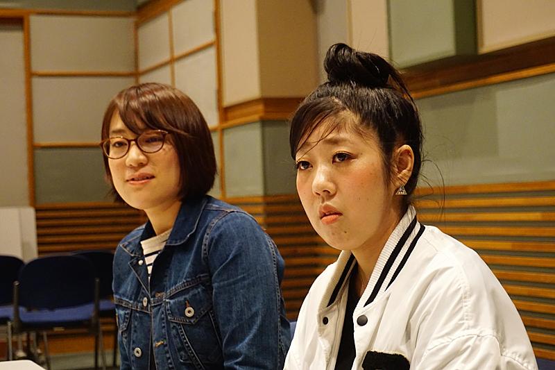 日本エレキテル連合 (左)橋本小雪、(右)中野聡子