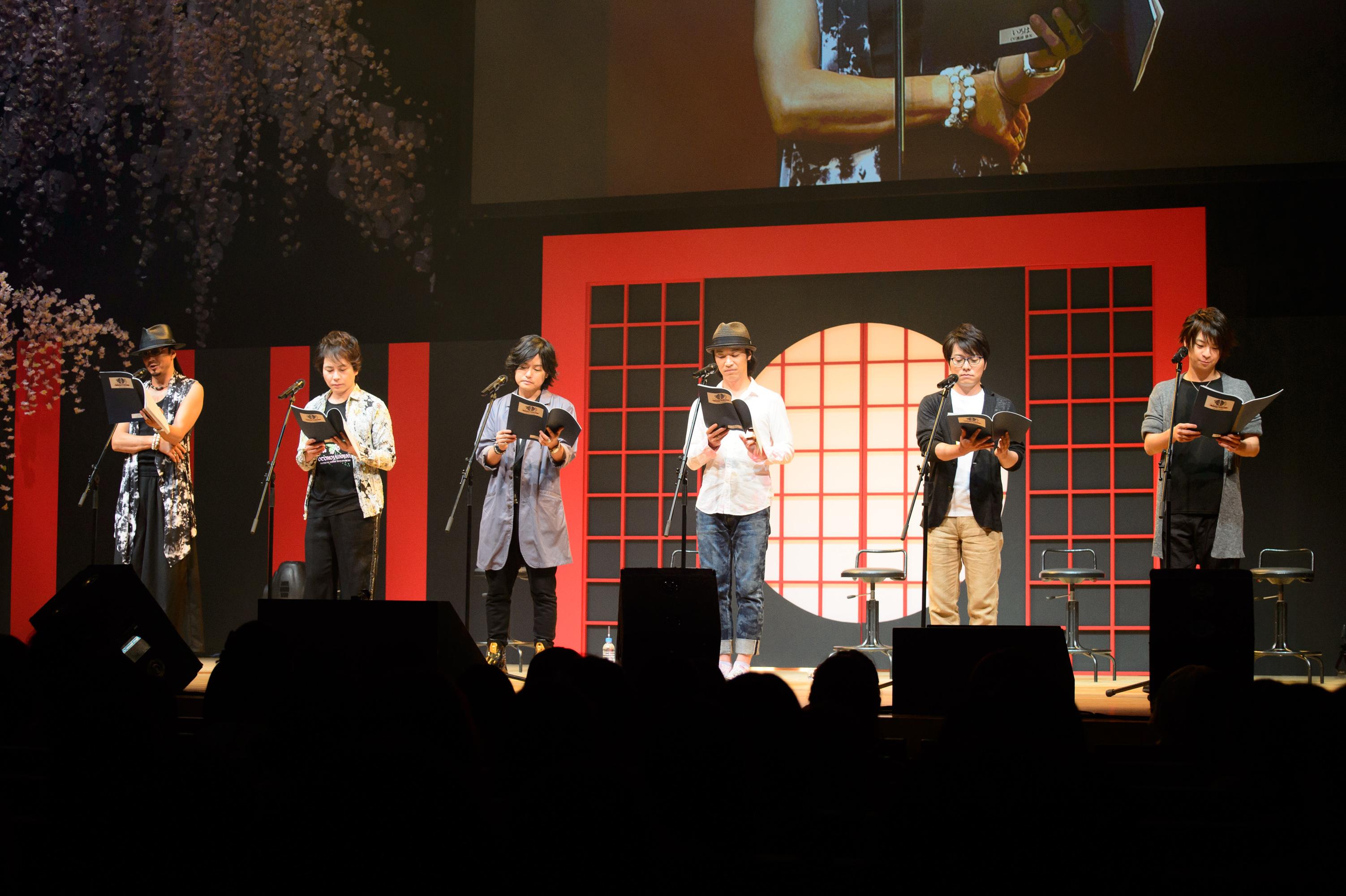 『男遊郭 ~夏の宵の花吹雪~』イベントのようす (C)2015 D3 PUBLISER