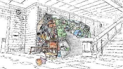 """池袋に出現する屋台型""""オアシス""""、北澤潤「NOWHERE OASIS」"""