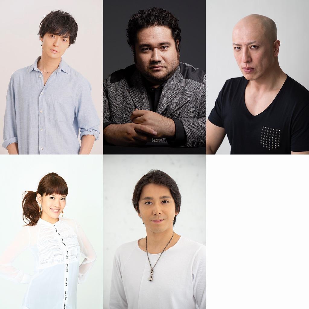 (上段左から)上口耕平、勝矢、吉田メタル(下段左から)可知寛子、小林遼介