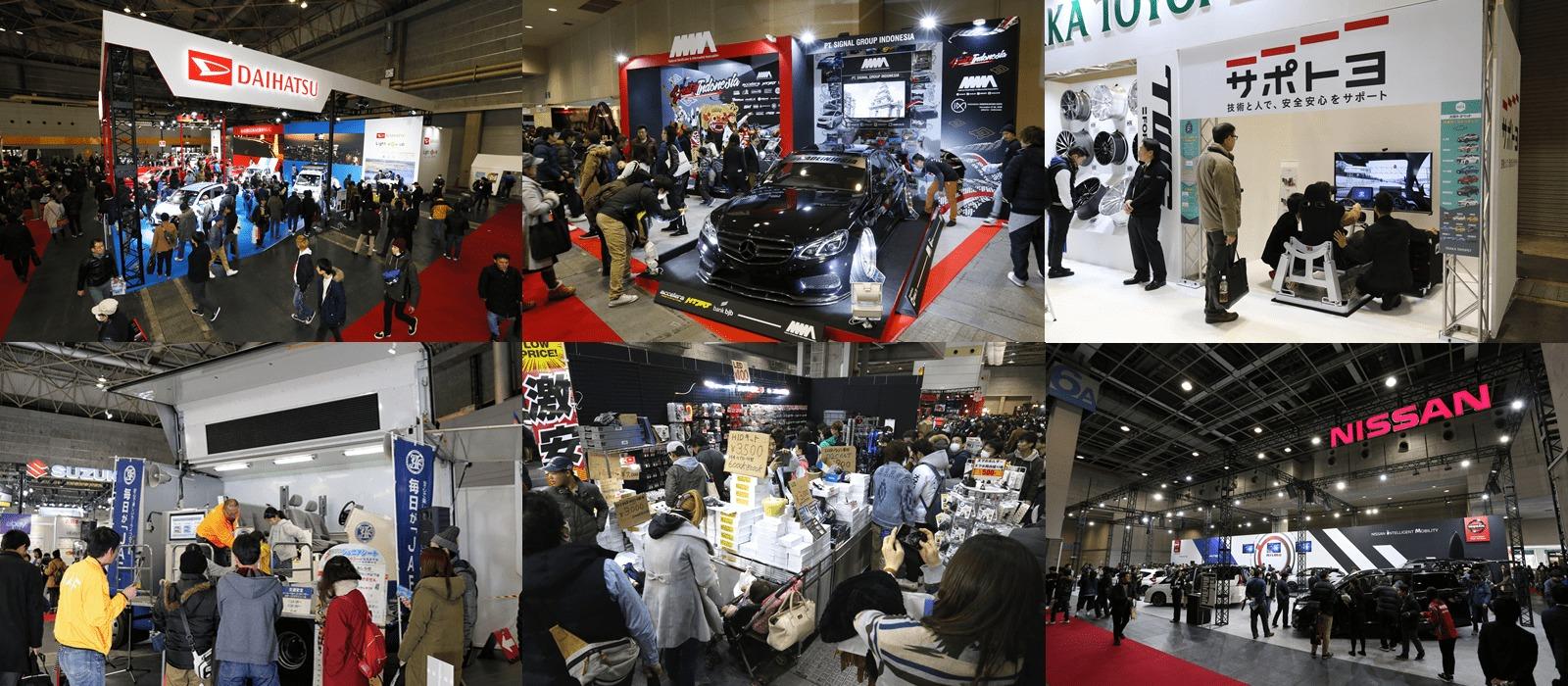 2018年は出展社数357、展示車両639台が集結し、会場のインテックス⼤阪はクルマ好きの人々で埋め尽くされた
