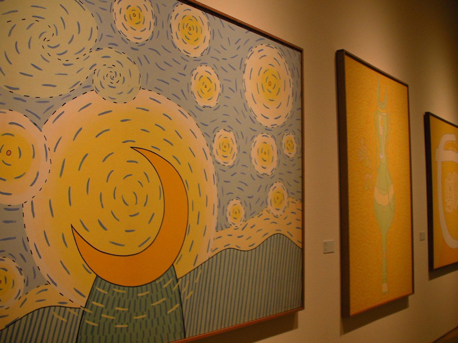 岡本信治郎(手前より)『星月夜』『よきサマリア人』『耳のない肖像』