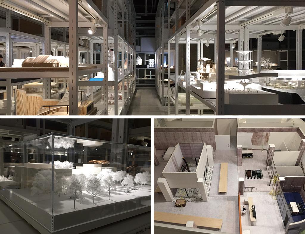 日本人建築家や設計事務所による建築作品の模型を豊富に展示