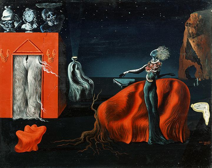 サルバドール・ダリ『奇妙なものたち』 1935年頃 40.5×50.0cm 板に油彩、コラージュ ガラ=サルバドール・ダリ財団蔵  Collection of the Fundació Gala-Salvador Dalí, Figueres © Salvador Dalí, Fundació Gala-Salvador Dalí, JASPAR, Japan,2016.