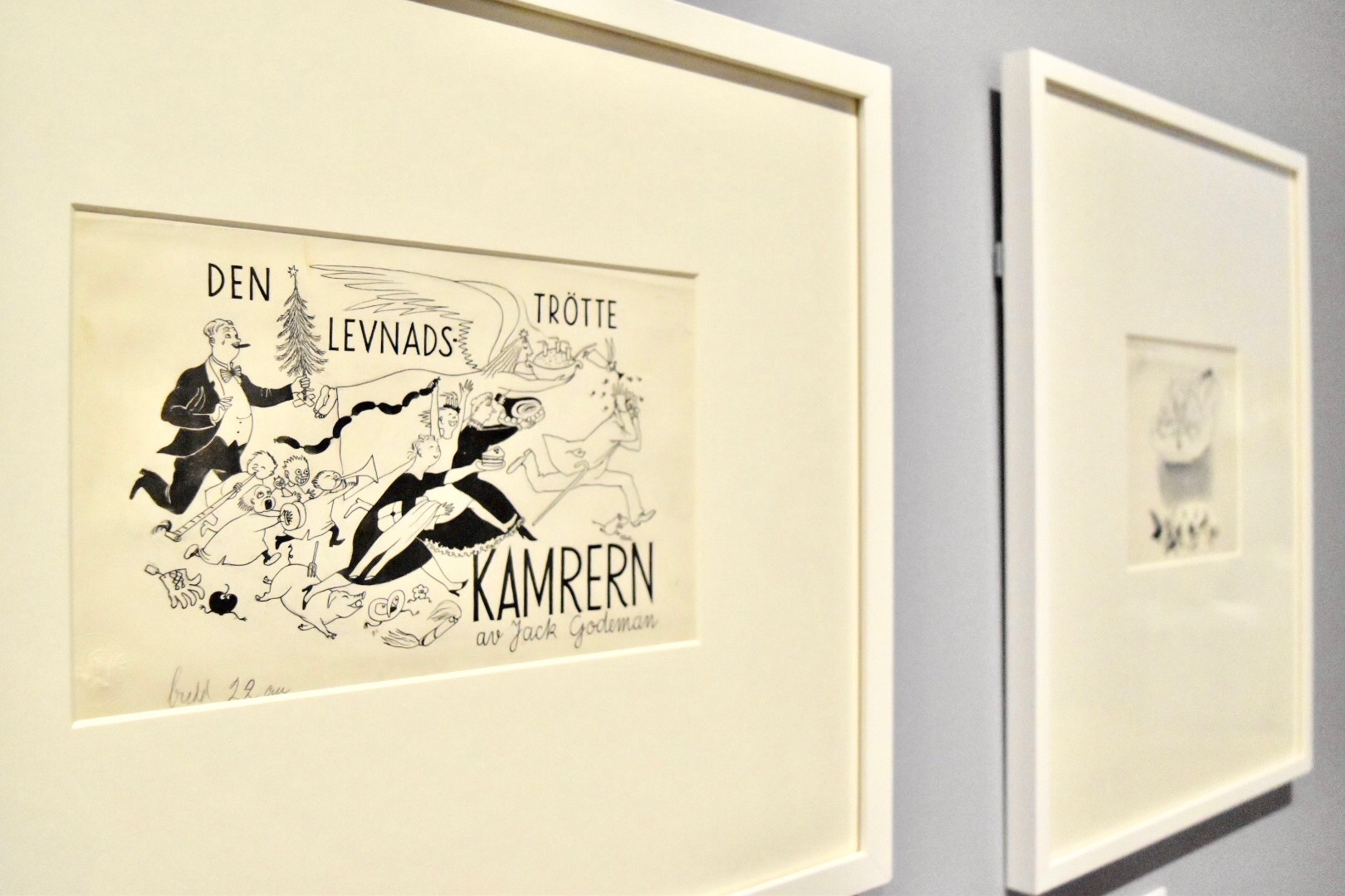 「ルシフェル」所収「人生に疲れた会計主任」挿絵 1949年 ムーミン美術館