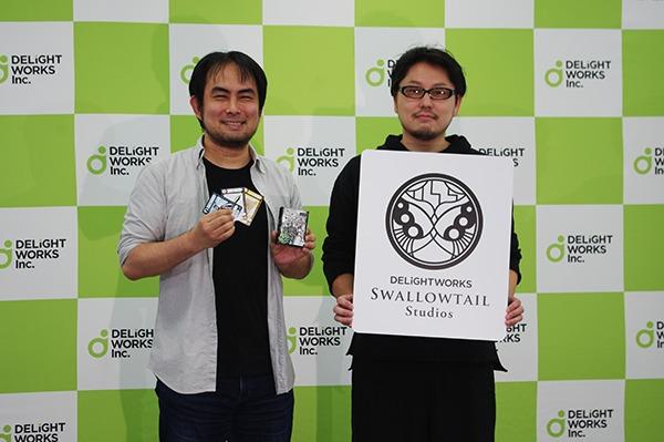 カナイセイジ氏(左)と塩川洋介氏(右) (c)DEAR SPIELE Inc.