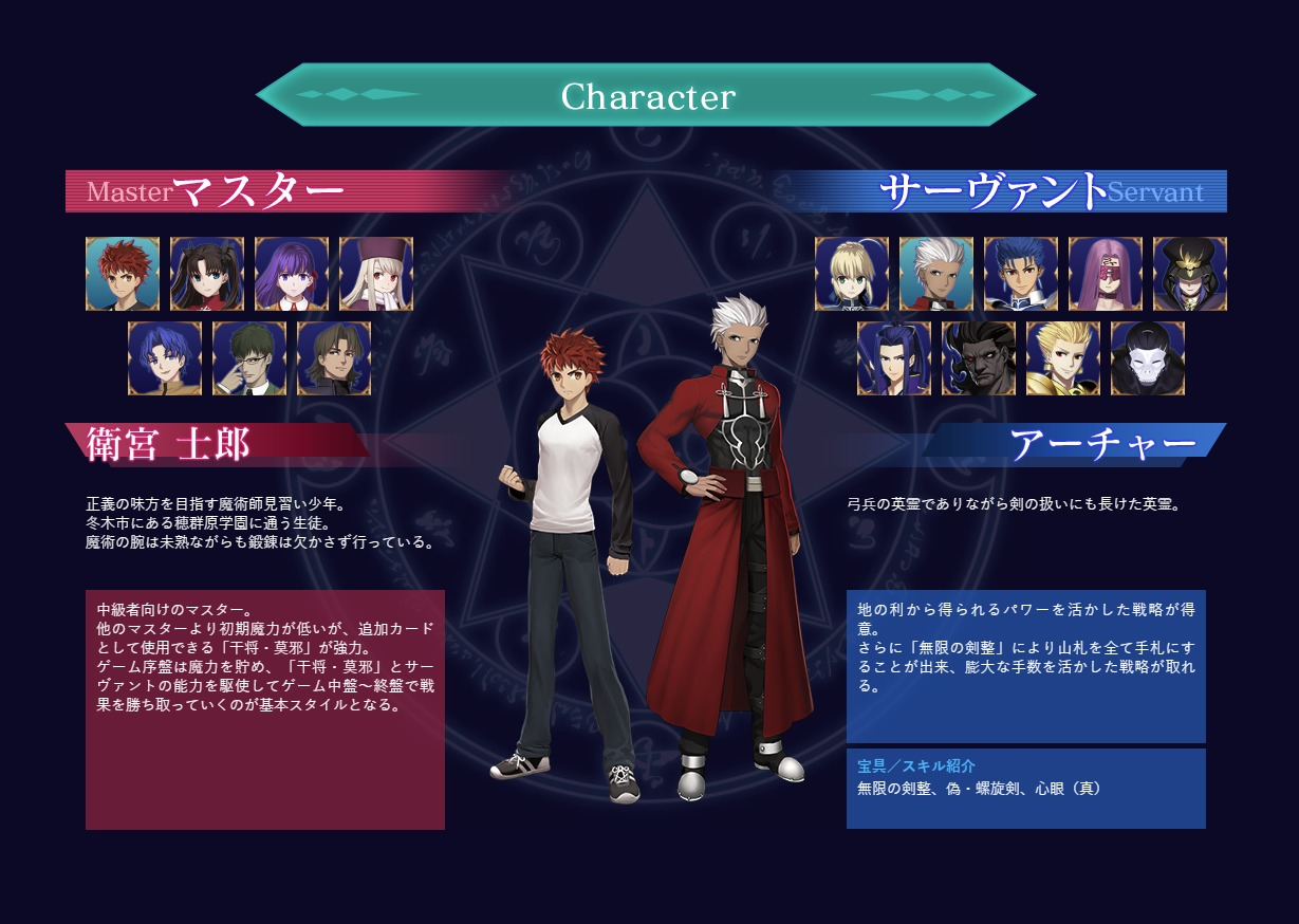 FsnBoardGame_公式サイトSS ©TYPE-MOON ©DELiGHTWORKS