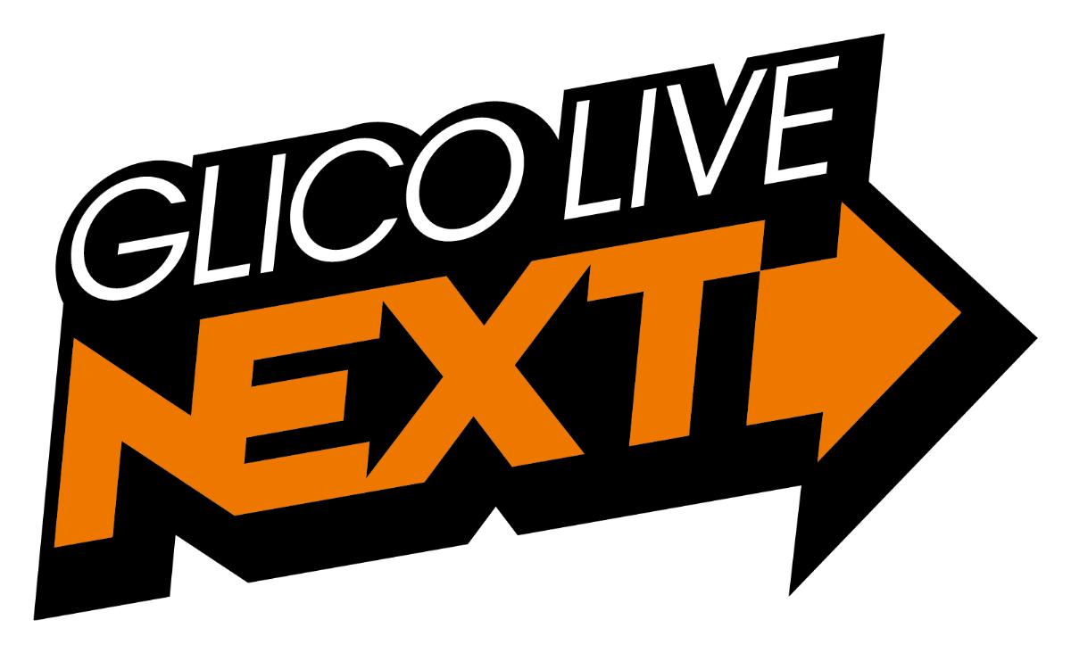 """FM802『GLICO LIVE """"NEXT""""』ロゴ"""