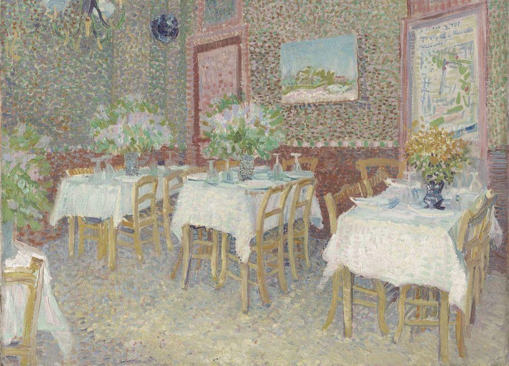 フィンセント・ファン・ゴッホ《レストランの内部》1887年夏 油彩、カンヴァス 45.5×56cm クレラー=ミュラー美術館蔵  (C)Kröller-Müller Museum, Otterlo, the Netherlands