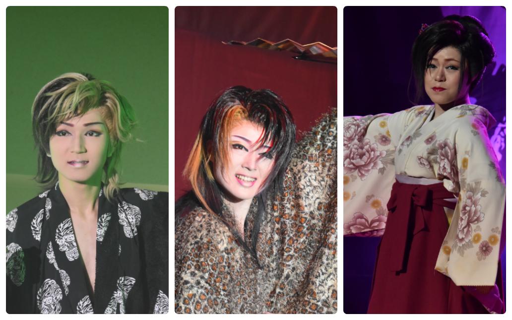 劇団つばさメンバー。左からつばさ輝さん、つばさ真琴さん、つばさ奈月さん。