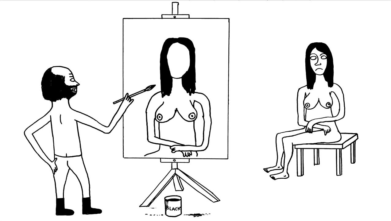 ディヴィッド・シュリグリー「アーティスト」2012 アニメーション 2分24秒 Courtesy:Artist and Stephen Friedman Gallery, London