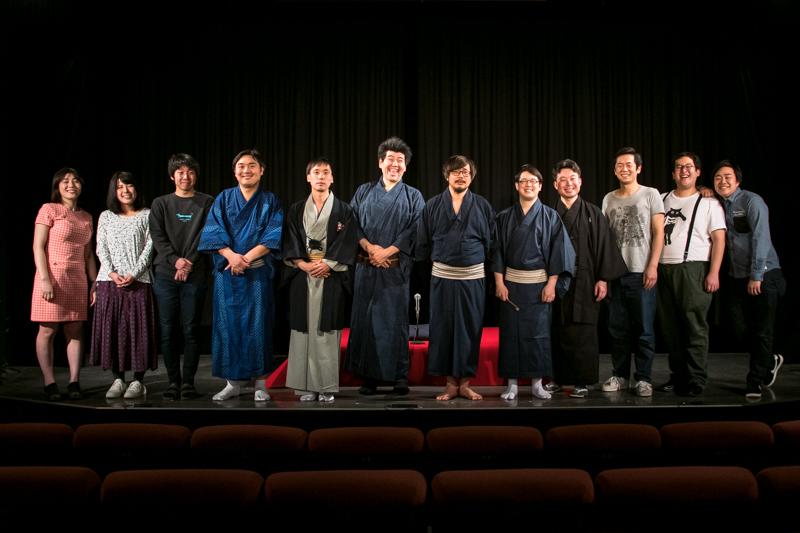 劇団「地蔵中毒」寄席 出演者たち