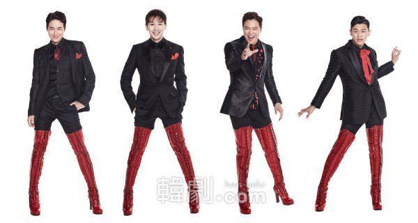 (写真左から)チャーリー役のイ・ジフン、キム・ホヨン  ローラ役のチョン・ソンファ、カン・ホンソク