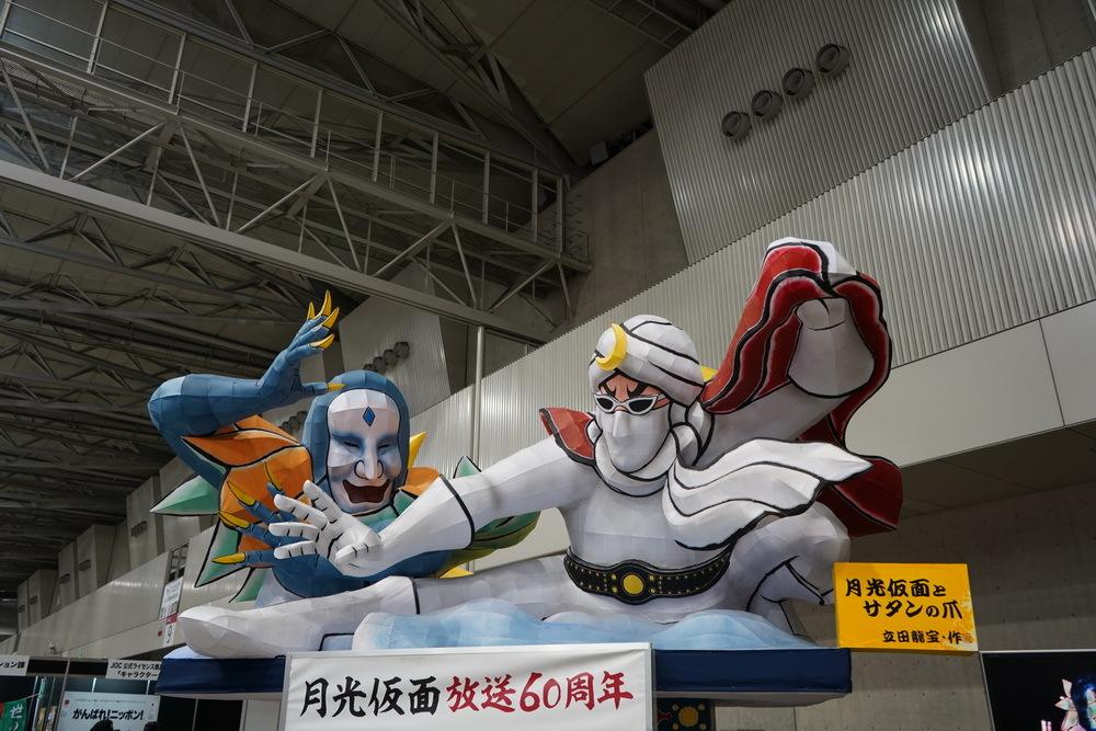和製ヒーローの元祖『月光仮面』はねぶたで登場