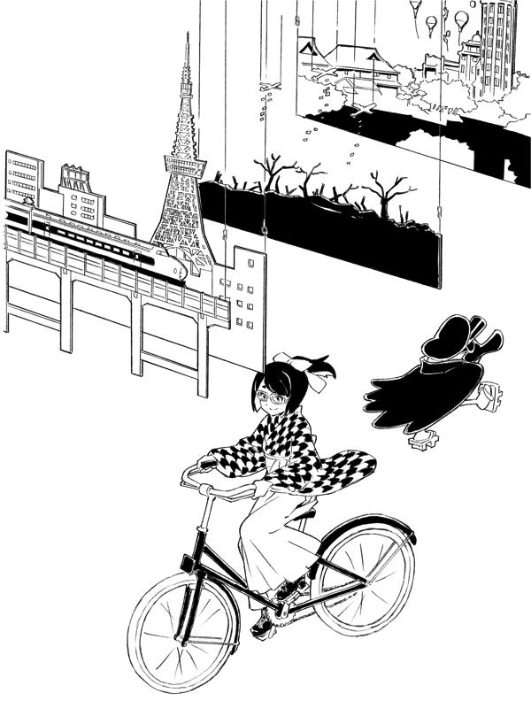 ヨリコ・ギャラリー2b 《東京の日常》 (C) 2018 OPMA All Rights Reserved. Illustration by Yusuke Yoshigaki
