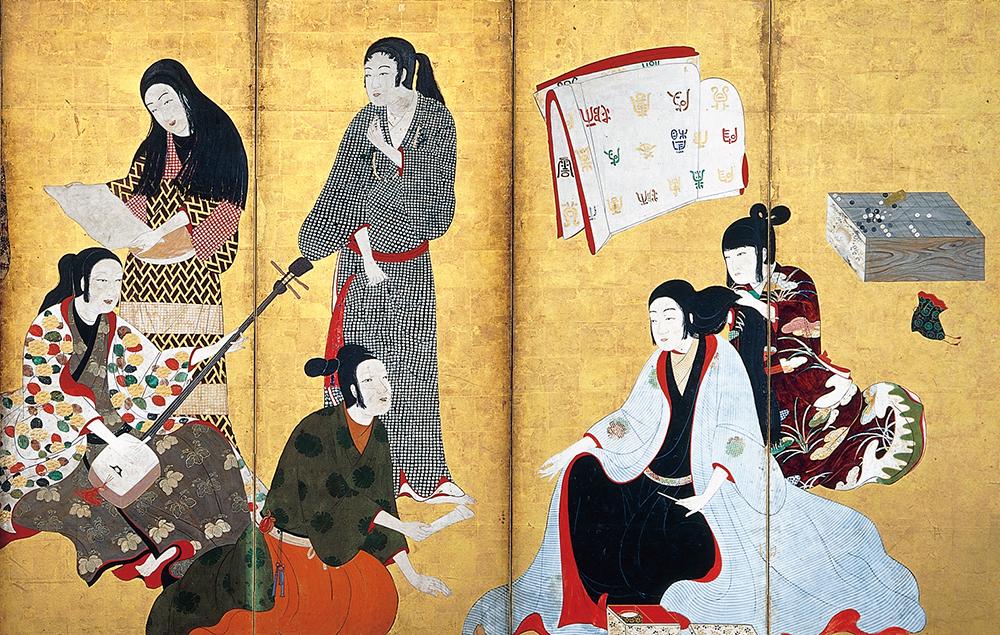 国宝 婦女遊楽図屛風(松浦屛風)  六曲一双のうち右隻(部分) 江戸時代 17世紀 大和文華館