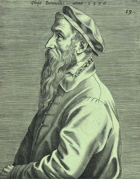 ヨハネス・ウィーリクス(版刻)ピーテル・ブリューゲル1世の肖像(部分)1600年エングレーヴィングMuseum BVB, Rotterdam, Netherlands