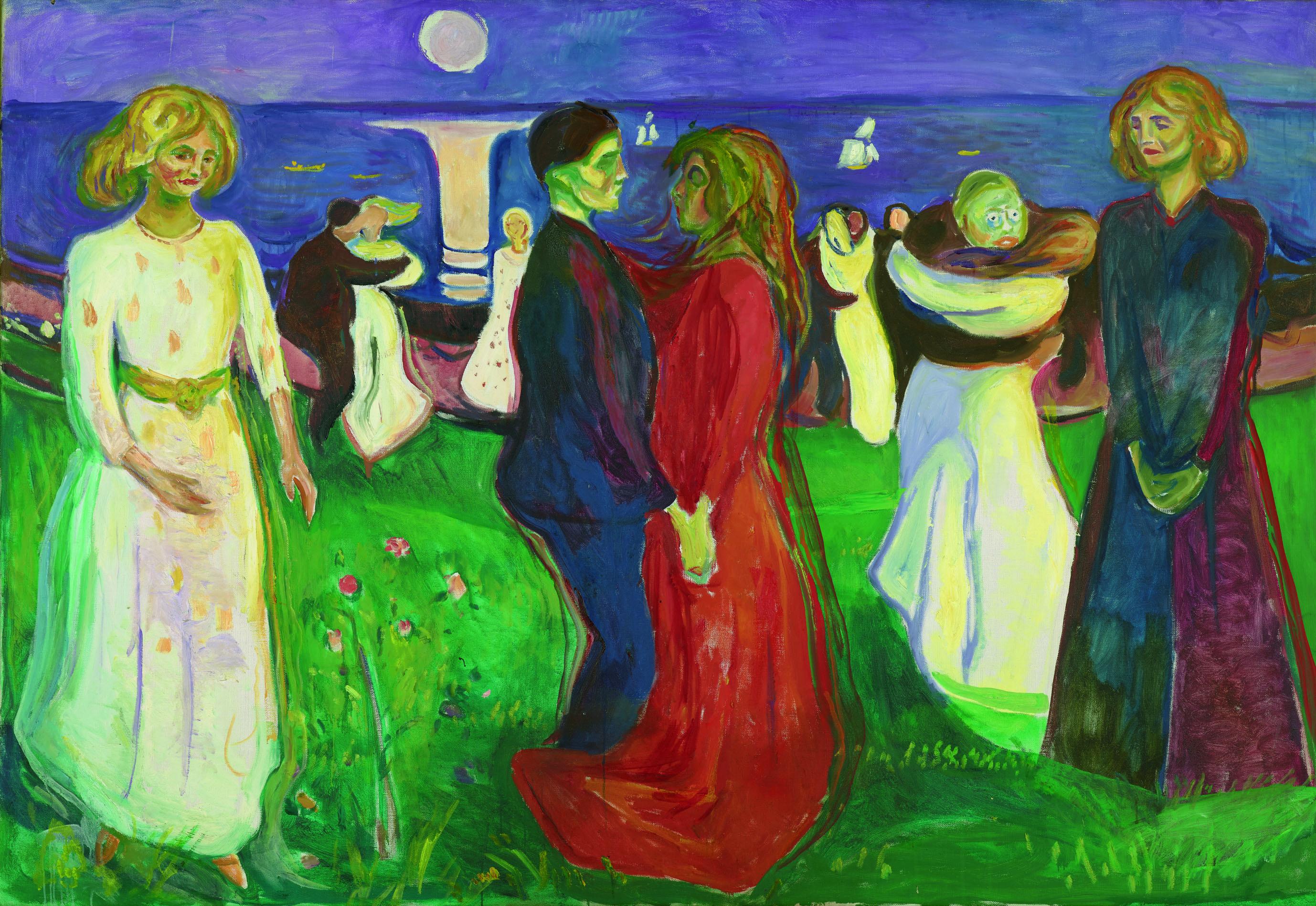 エドヴァルド・ムンク《生命のダンス》1925年 油彩、カンヴァス 143×208cm