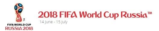 『2018FIFAワールドカップ ロシア』は6月14日(木)のロシア対サウジアラビア戦で開幕する