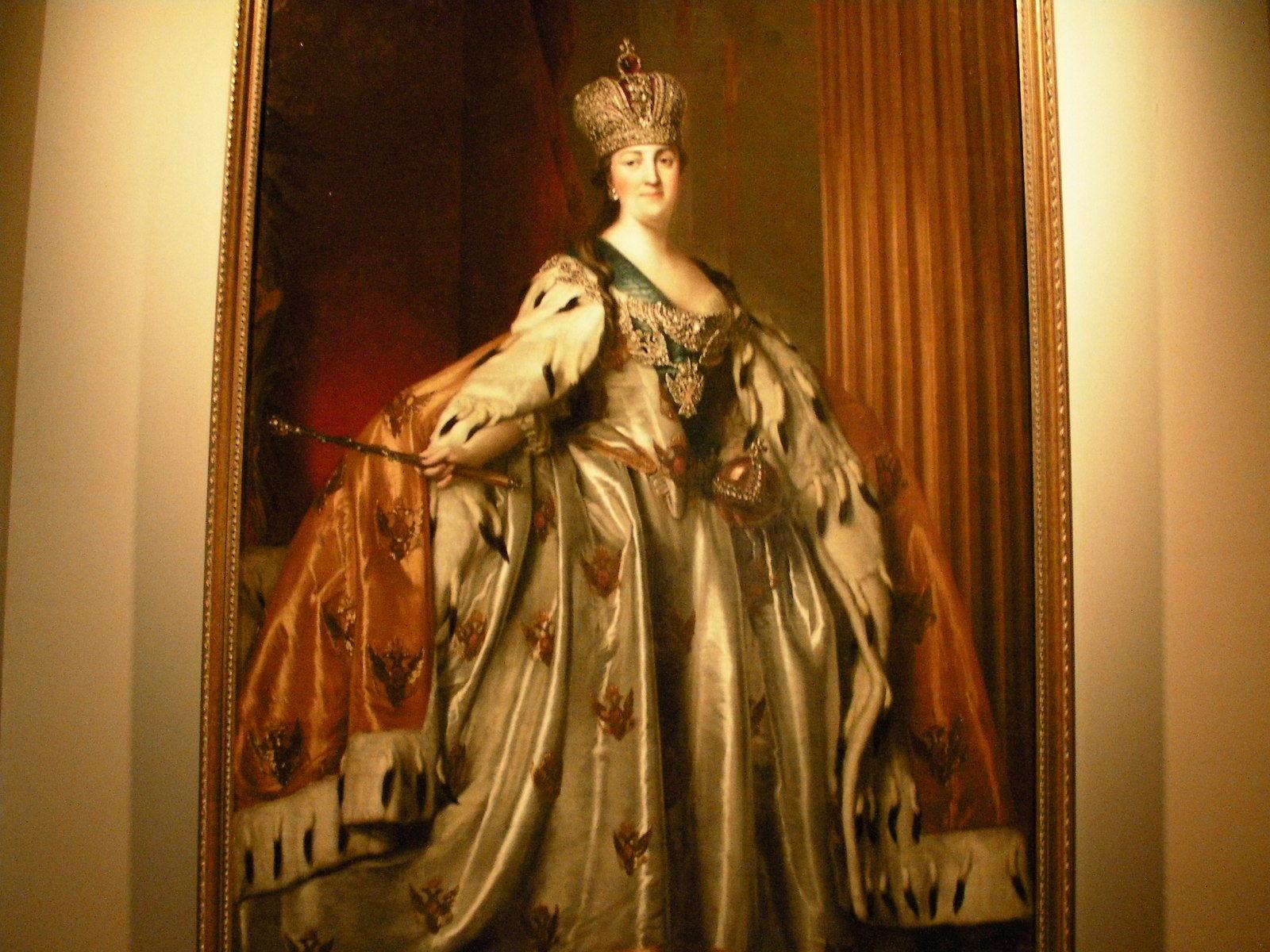 ウィギリウス・エリクセン《戴冠式のローブを着たエカテリーナ2世の肖像》(1760年代)