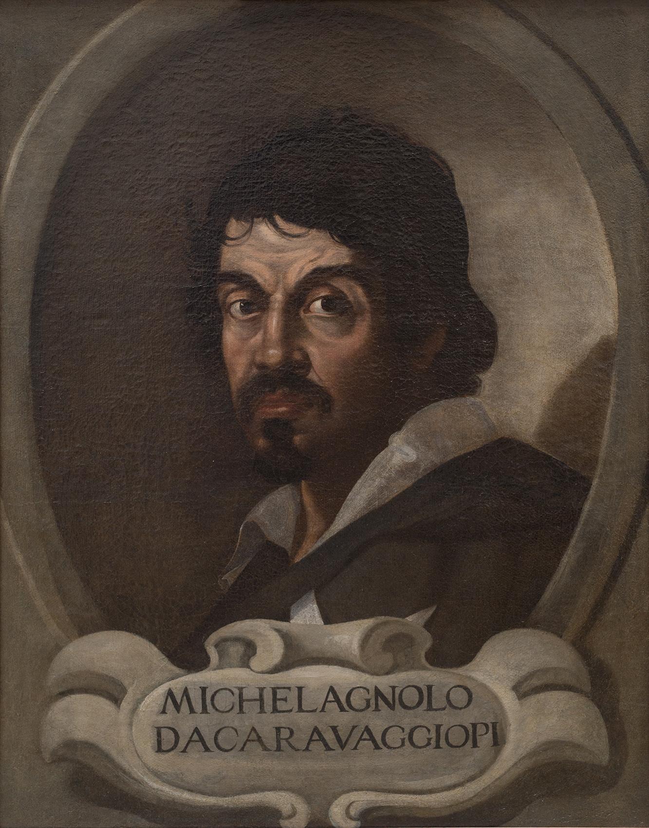 作者不詳 《カラヴァッジョの肖像》 1617年頃 ローマ、サン・ルカ国立アカデミー Roma, Accademia Nazionale di San Luca